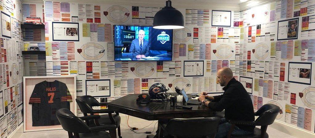 chicago bears draft room